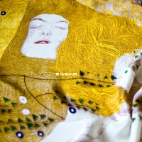 蒙马特大街艺术衍生品女春夏世界名画真丝长巾油画丝巾艺术克里姆特梵高