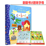 Lift the flap abc 趣味字母 原版英文翻翻纸板书 图书低幼儿童英语启蒙早教书立体书3-6岁 Usbor