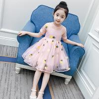 儿童连衣裙女童夏装2018新款洋气童装裙子短袖女孩蓬蓬纱公主裙夏