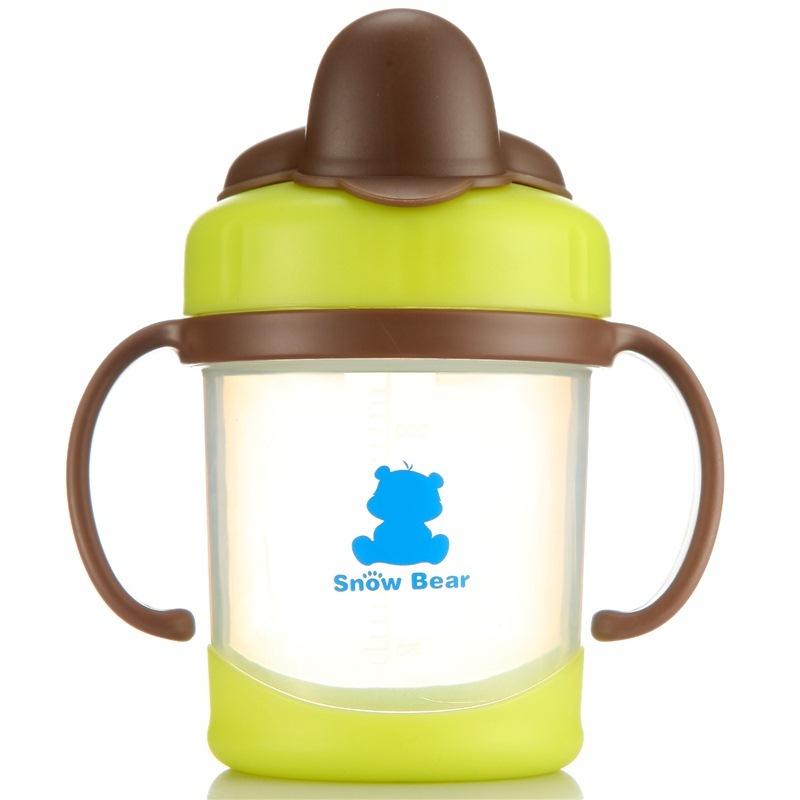 【当当自营】小白熊 鸭嘴训练杯250ml 09102 颜色随机 水壶/水杯/吸管杯