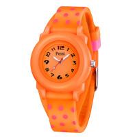 儿童手表女孩时尚中小学生女童可爱小巧防水少女款手表石英表 可爱橙色*送表盒