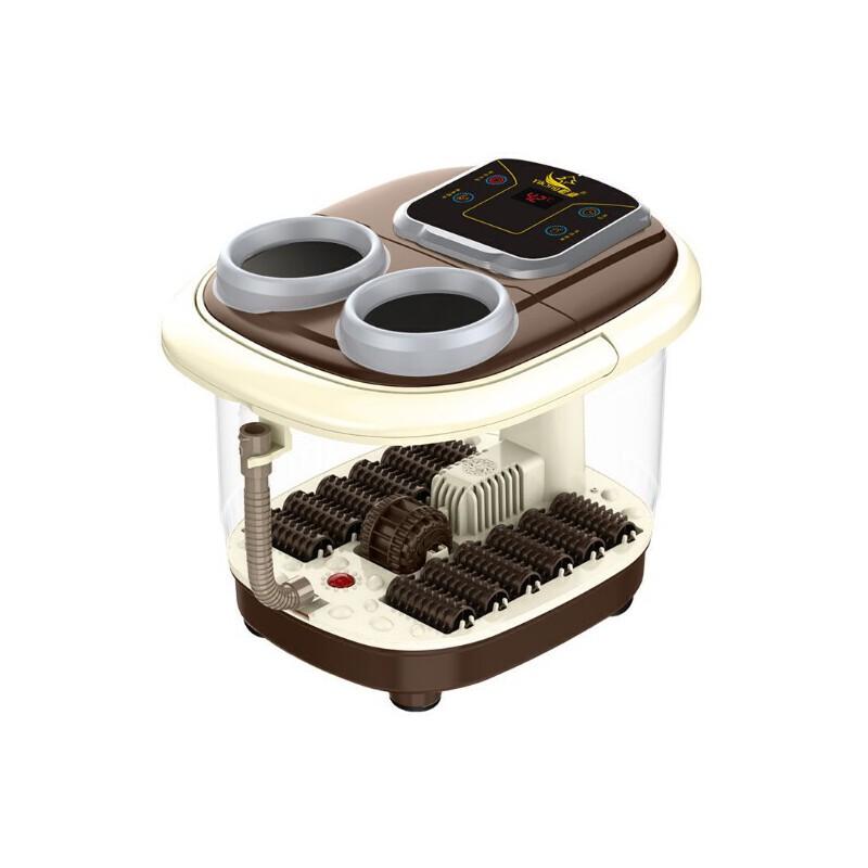 贻康YJ-868足浴器足浴盆洗脚盆泡脚桶一键启动智能足浴盆 薰蒸款  12组自助滚轮按摩