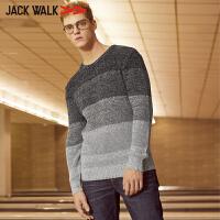 jackwalk拉夏贝尔男装冬季套头针织衫商场同款