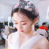 新娘头饰森系仙美公主甜美韩式白纱结婚发饰婚纱饰品新款2018