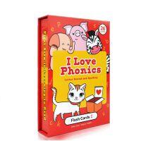 英文原版英语 I Love phonics L1 Alphabet flash cards 自然拼读 字词卡 启蒙游戏