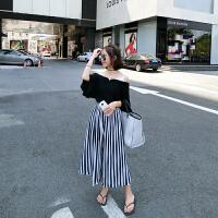 套装女士夏装阔腿裤新韩版气质雪纺上衣百褶裤两件套时尚潮流