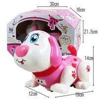 儿童电动玩具小狗狗电子智能音乐机器笨笨狗走路会唱歌跳舞狗