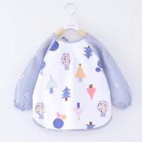 宝宝罩衣春秋薄款防水反穿衣男女孩儿童围裙婴幼儿吃饭衣夏季