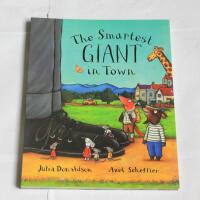 【全店300减100】The Smartest Giant in Town 聪明豆绘本系列:城里漂亮的巨人 Julia