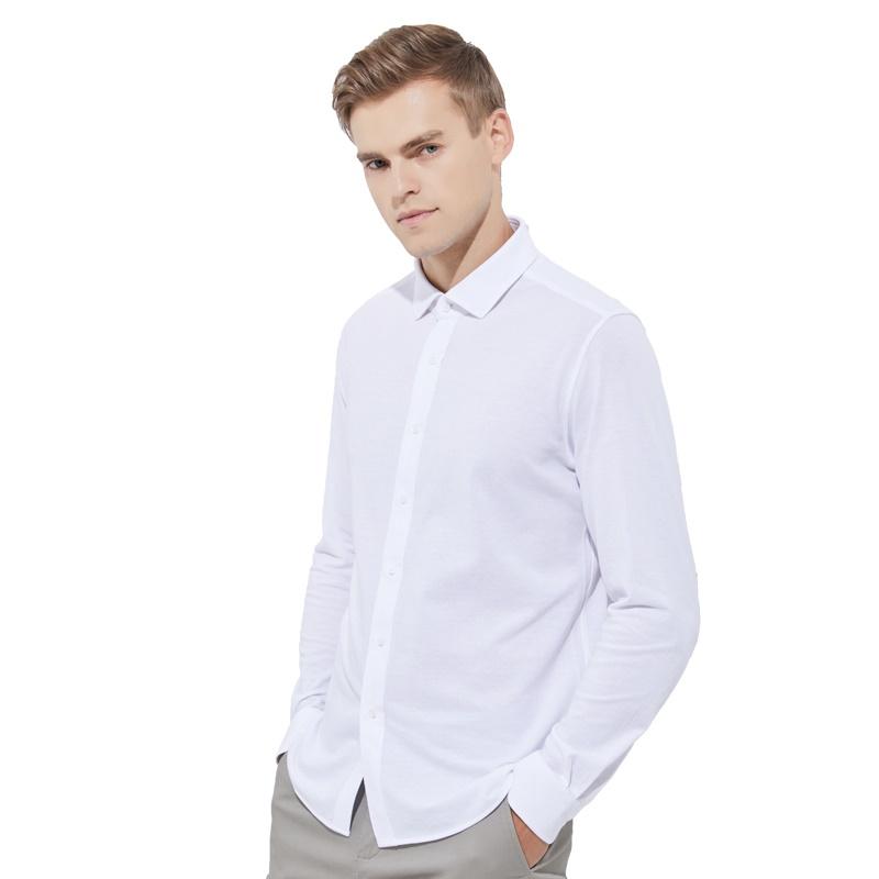 【网易严选清仓秒杀】男式针织面料衬衫 简约中的坚持,经典是不易改变的精致
