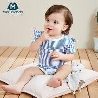 【99元任选3件】迷你巴拉巴拉婴儿夏季包屁衣薄款三角衣新款婴儿透气连体衣