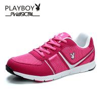 PLAYBOY/花花公子 女鞋网面鞋运动鞋女超轻跑步鞋日常休闲运动鞋透气网面系带平底鞋子 DN51804