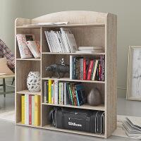 慧乐家书架儿童收纳书架大容量储物柜书柜七格柜置物架自由组合韩式书柜收纳柜