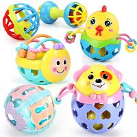 婴儿摇铃玩具0-3-6-12个月新生儿手摇铃小男孩女宝宝软胶
