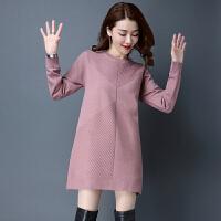 加肥加大码女装胖mm200斤中长款加厚毛衣女宽松5XL羊绒打底衫秋冬