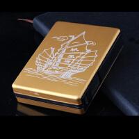 USB充电打火机烟盒烟盒创意烟盒防风个性带电弧打火机带充电打火机一体金属超薄个性男点烟器