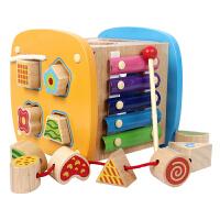 儿童宝宝积木玩具1-2-3周岁婴幼儿一岁早教男女孩子实木制