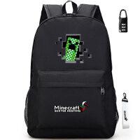 夜光Minecraft我的世界周边背包双肩包书包女中小学生男校园苦力 黑色 C款
