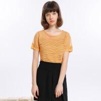 夏�b新品-��松短袖��衫吊��杉�套女Y621146M20