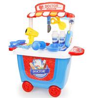 博娃 过家家手推车烧烤快餐超市雪糕化妆工具医护桶车儿童玩具车