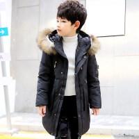 儿童羽绒服男孩子冬季外套男童中长童装中大童保暖