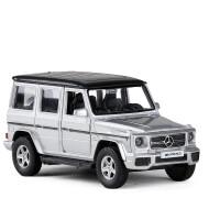 20190702030357671五寸合金车模奔驰G63越野车磨砂哑光回力汽车模型玩具车 银色 盒装