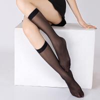 中筒丝袜防勾丝中长袜子女肉色韩版半筒夏半截隐形短袜中筒袜 黑色 (及)10双装 均码