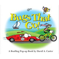 Bugs That Go!: A Bustling Pop-up Book (David Carter's Bugs) 神奇动态体验立体认知书・出发吧,小虫虫:交通工具
