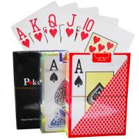 德州扑克牌 塑料大字PVC防水磨砂扑克牌