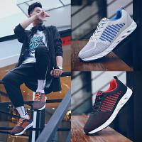新款男鞋夏季透气休闲运动鞋韩版潮流板鞋网鞋飞织跑步鞋潮鞋