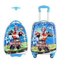 卡通儿童拉杆箱男女宝小孩行李箱学生登机拖箱皮万向轮18寸旅行箱 18寸 方形 万向轮