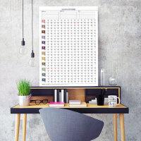 2020年日历单张年历大号鼠年挂历贴墙新年加厚超大创意挂式家用挂墙365天打卡表全年百日每日工作进度计划表