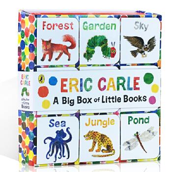 顺丰发货 英文原版绘本The World of Eric Carle: Big Box of Little Books 迷你小小纸板书绘本9册图画故事礼盒装 艾瑞卡尔封底可玩拼图