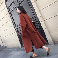 毛呢大衣女中长款2018秋冬季新款流行韩版潮流呢子冷系女装外套