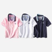 宝宝polo衫短袖 男童T恤夏装新款中大童亲子童装儿童上衣
