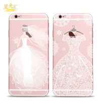 苹果6splus手机壳女神6s蕾丝婚纱六软壳创意iPhone6plus硅胶软壳