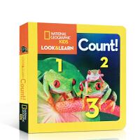 英文原版绘本 National Geographic Kids Look and Learn:Count!美国国家地理