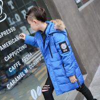 儿童羽绒服中长款男孩子新款冬季男童保暖中大童装外套