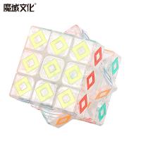 速拧顺滑透明魔方儿童学生玩具水晶魔方三阶初学3阶魔方