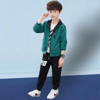 木木屋男童春装套装2021新款儿童洋气网红时髦春夏款韩版男孩运动两件套潮