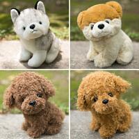 哈士奇公仔可爱小狗毛绒玩具女生布娃娃韩国狗狗玩偶女孩礼物