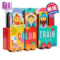 【中商原版】颜色火车 英文原版 Color Train 纸板书 色彩认知启蒙绘本 美感培养 2-6岁