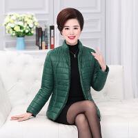 妈妈装冬装棉衣加厚新款50-60岁中老年女装羽绒短款外套