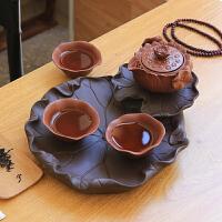 干泡茶盘旅行茶具套装功夫快客杯一壶三杯日式户外便携
