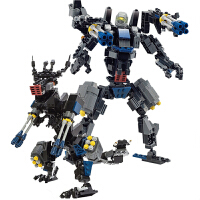 变形机器人金刚拼装恐龙积木益智玩具6-7-8-10岁男孩