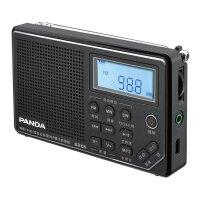 熊猫(PANDA)6205小收音机老年人插卡可充电便携全波段半导体广播 黑色