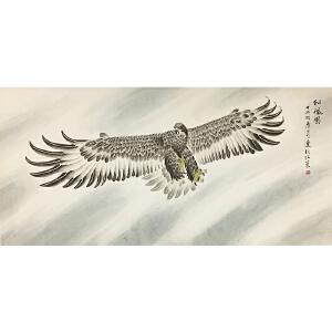 张策《雄鹰展翅》著名画家