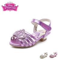 迪士尼Disney童鞋2018新款儿童凉鞋闪钻皇冠公主鞋女童时装凉鞋甜美透气学生鞋(5-10岁可选) K00355