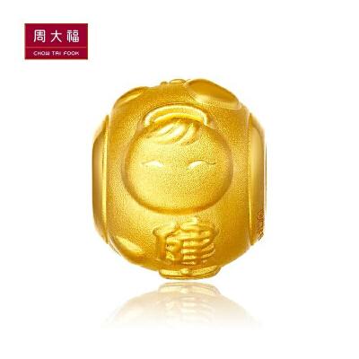 周大福 FOLLOW福星宝宝转运珠黄金吊坠R多款R15411>>定价正品保证 全国联保 全场可用礼品卡