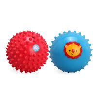 美国费雪宝宝按摩训练球捏捏球 婴幼儿手抓球感官训练玩具2个装